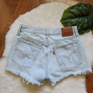 Levi's high waisted mom jeans cut off shorts